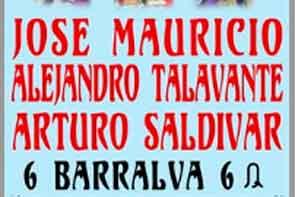 #TAUROTV :Corrida Inaugural de la Temporada Grande. 2013/2014 6 BARRALBA 6 para los Diestros: José Mauricio, Alejandro Talavante y Arturo Saldivar.Juez de Plaza: Jorge Ramos.Asesor: Conrado García. RTVTOROS